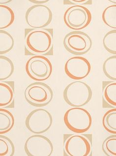 A stylish 70's design geometric pattern of ovals and squares