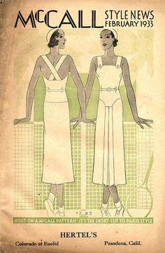 McCall 7242 in McCall Style News, February 1933