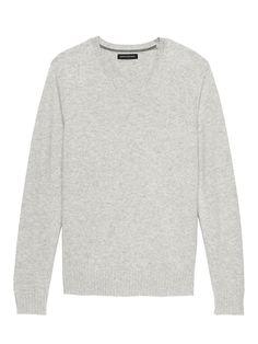 b75dc54a Italian Merino Wool V-Neck Sweater | Banana Republic Cotton Sweater, Men  Sweater,