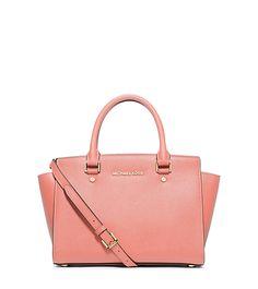 Michael Kors - Selma Saffiano Leather Medium Satchel - Pale Pink