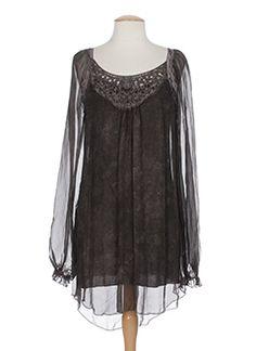 Tuniques femme de couleur marron en soldes pas cher - Modz Tunic Tops, Blouse, Long Sleeve, Sleeves, Women, Fashion, Woman Clothing, Blouse Band, Moda