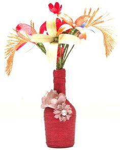 Flower Bottle Vase Dimension : 27cm x 30cm http://kalajagat.com/crafts Rs/- 600