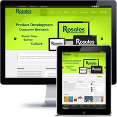 Rosalesc Communications Company website built with Wordpress using responsive web design.