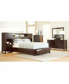 Tahoe Noir Wall Bedroom Furniture Sets & Pieces - furniture - Macy's