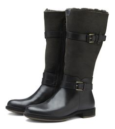 ECCO Saunter Double-Face Boot in BLACK/MOONLESS (55869)