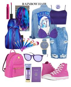 """Sem título #20"" by tatiana-fraga on Polyvore featuring beleza, NYX, Victoria's Secret, OneTeaspoon, WearAll, Dorothy Perkins, Converse, MCM, Ray-Ban e Bling Jewelry"