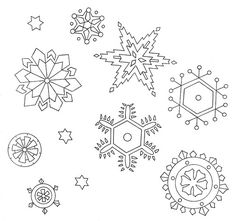 snowflakes | Artex Christmas transfers No. 0275, copyright d… | Flickr