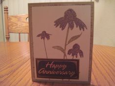 Anniversary Card - all product Stampin Up