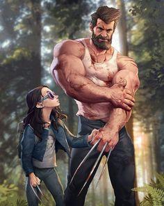 Wolverine Old Man Logan + Laura Marvel Wolverine, Marvel Dc Comics, Heros Comics, Hq Marvel, Logan Wolverine, Bd Comics, Marvel Heroes, Rogue Comics, Disney Marvel