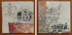 encaustic art for 30x30 art show.  #architecture #home #pattern #wax #texture #paintings #drawings #illustration