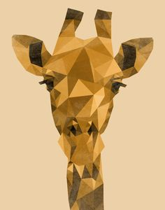Vintage Giraffe, by Elayna Speight #Art4Animals