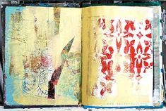 Julie Balzer background pages for art journaling #mixed_media