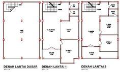 Contoh Denah Ruko 2 Lantai 2015 - Denah Rumah - Desain Rumah Minimalis