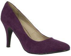 ShopStyle: LotusWomens Ladies Purple Mid Heel Almond Toe Court Shoes