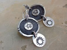 Rustic Tibal Coin Style Stamped Sterling Silver by PrivateRoad
