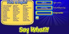 Mad Lib style stories that use ELA parts of speech skills to help children learn language in a fun and enjoyable manner. Educational Games For Kids, Kids Learning, Mad Libs Game, Great Fear, Parts Of Speech, Say What, Language, Lettering, Sayings