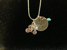 Disney Cinderella Inspired Hand Stamped Charm Necklace $18.00 USD