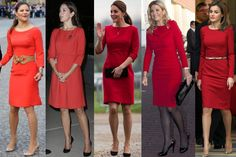 royalroaster:  Royal Ladies in Red-Crown Princess Victoria, Crown Princess Mary, Duchess of Cambridge, Queen Maxima, Queen Letizia