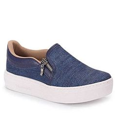 Slip On Feminino Via Marte - Jeans