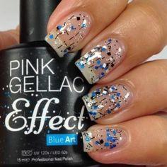 Op welke kleur vinden jullie de Blue Art Effect het mooist? Met deze Pink Gellac Effect Blue Art maak je super ee...
