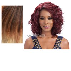 Equal (SNG) Lace Deep Invisible L Part Tammi - Color OM2730613 - Synthetic (Curling Iron Safe) Invisible L-Part Lace Front Wig - Closed Invisible L-Part