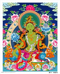 A Thangka is a Tibetan silk painting with embroidery, usually depicting a Buddhist deity, famous scene, or mandala of some sort. The Thankga is sometimes called a scroll-painting. http://www.china.org.cn/china/2011-05/19/content_22597121.htm