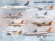 South African Airways Boeing 747-200 displaying old and new colours