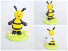 Polymer Clay Cake Topper (Bumble Bee)