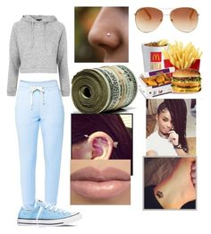 """""""Dentist office"""" by spiffyjatera on Polyvore featuring Lija, Converse, Topshop and Tommy Hilfiger"""
