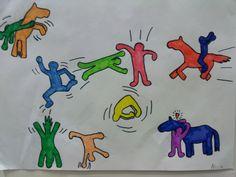 Liikettä Keith Haringin tyylillä
