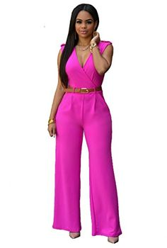 bde587ff182 Yipost Women Vintage Playsuit Wide Leg Loose Pants Jumpsuit Romper with  Belt    Check this