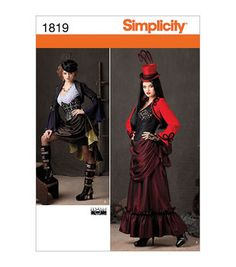 Simplicity Patterns Us1819-Simplicity Crafts Costumes-6-8-10-12