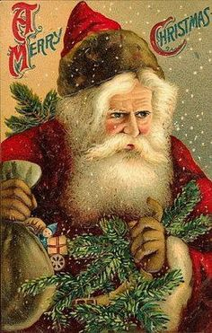 vintage victorian greeting cards   ... Crafts » Blog Archive » Free Vintage Santa Claus Christmas Cards