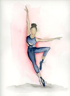 Graceful Motion Series - Strike A Pose. Original by Tiffany Pelczar Dancer Tattoo, Dancer Drawing, Jazz Dance, Dance Art, Baile Jazz, Dance Wallpaper, Dancing Drawings, Little Ballerina, Strike A Pose