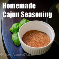 Make your own Paleo Cajun Seasoning with this easy but really flavorful recipe! Photos and printable instructions available.