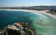 Vista aérea da praia de cabo frio