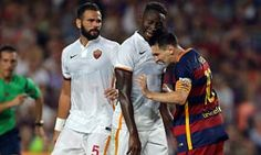 Barcelona 3-0 Roma: Lionel Messi headbutts Mapou Yanga-Mbiwa before scoring just seven minutes later | Daily Mail Online
