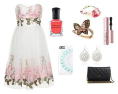 """""""Hope"""" by kittykitkat132 ❤ liked on Polyvore featuring Chi Chi, LE VIAN, Deborah Lippmann, Chanel, Too Faced Cosmetics, The Limited and Bando"""