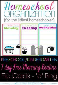 Homeschool Organization Preschool Morning Routine @ Tina's Dynamic Homeschool Plus