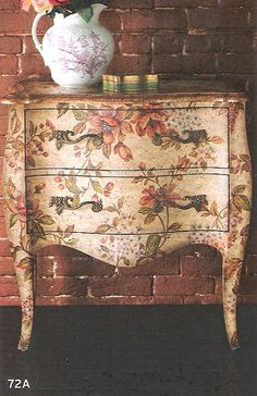 floral decoupage furniture. Take Napkins Or Other Ephemera And Enlarge It At Copy Center To Use As Large Decoupage Floral Furniture