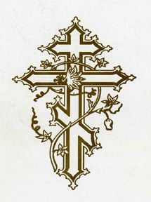 Byzantine Cross, beautiful design and anybody can pull it off! Unique Tattoos, New Tattoos, Small Tattoos, Tattoos For Guys, Christian Symbols, Calf Tattoo, Russian Orthodox, Holy Cross, Cross Jewelry