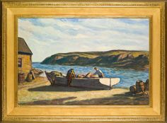 "Clarence Kerr Chatterton, ""Preparing the Dory"", Perkins Cove, Ogunquit, Maine."