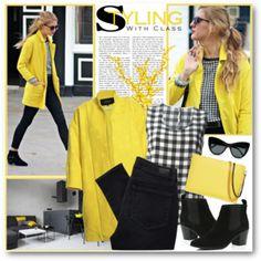 Fall Black, White & Yellow
