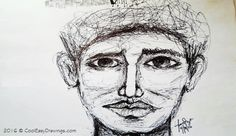 Create a Face Drawing Using These Pen and Ink Techniques Cool Easy Drawings, Create A Face, Different Lines, Curly, Sketches, Ink, Cool Stuff, Amazing, Artist