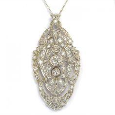 Edwardian Diamond Pendant, Circa 1915 Looks like something my mom has of her grandmother's