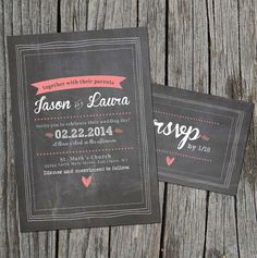 DIY Printable  Chalkboard Wedding Invitation Set by themunch, $45.00