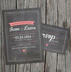 Invitaciones de boda pizarra y gis
