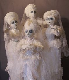 "Witch Crafts - ""Dearly Departed"" Ghost Dolls"