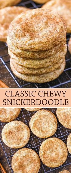 Chewy Snickerdoodle Cookies - The Best Snickerdoodles Recipe! - Cookie Recipes - These Chewy Snickerdoodles are soft and buttery cookies that are covered in cinnamon and sugar! Holiday Baking, Christmas Baking, Christmas Dessert Recipes, Christmas Cookies, Easy Cookie Recipes, Baking Recipes, Oven Recipes, Monster Cookie Recipes, Smoked Meat Recipes