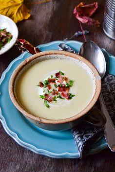 S vášní pro jídlo: Celerový krém s jablky Panna Cotta, Cooking, Ethnic Recipes, Soups, Collection, Blog, Kitchen, Dulce De Leche, Soup